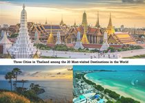Three Cities in Thailand among the 20 Most-visited Destinations in the World
